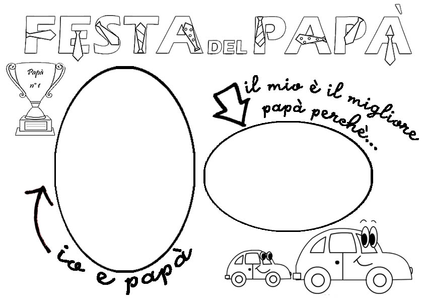 disegni da colorare per la festa del papa gratis