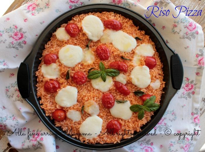 Eccezionale Riso pizza ricetta per bambini   Alla fine arriva Mamma RE44