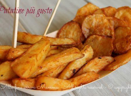 Patatine più gusto fatte in casa…al forno