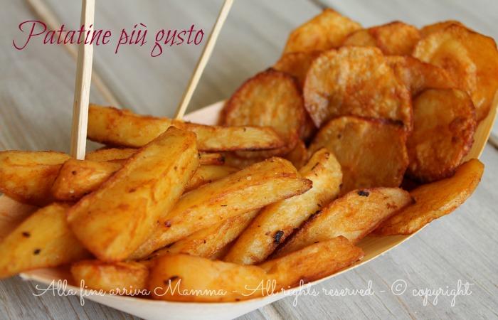 Patatine più gusto fatte in casa...al forno ricetta Alla fine arriva Mamma