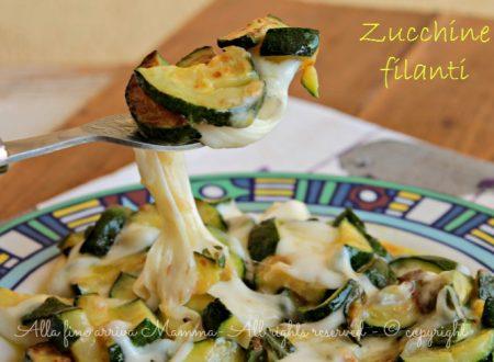 Zucchine filanti in padella