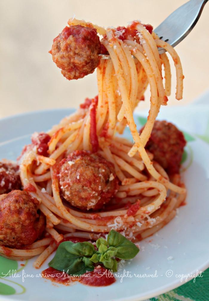 Spaghetti Meatballs di Lilli e il Vagabondo ricetta Alla fine arriva Mamma