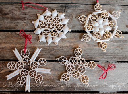Fiocchi di neve con pasta secca