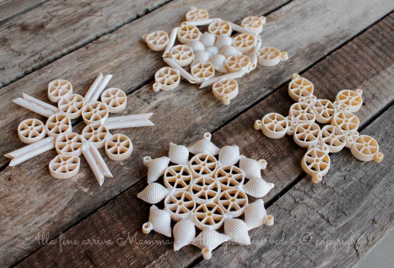 Fiocchi Di Neve Di Carta Facili : Fiocchi di neve con pasta secca alla fine arriva mamma