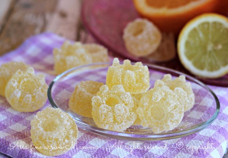 Caramelle gelee alla frutta fatte in casa alla fine for Casa di caramelle