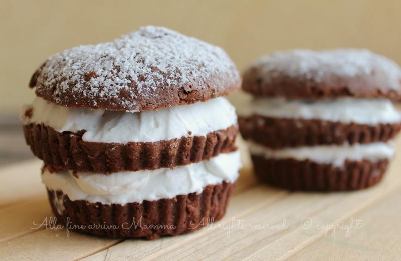 Brownies Muffin con panna ricetta Alla fine arriva Mamma