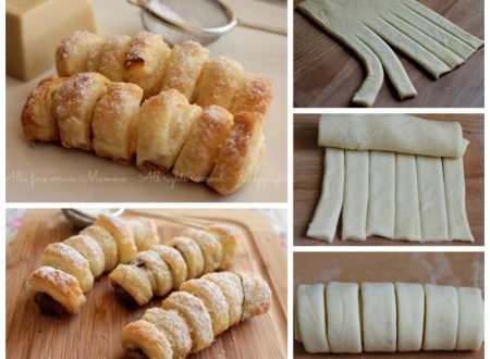 Cannoli di pasta sfoglia ripieno di Nutella