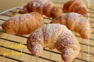 Cornetti pan brioche senza burro