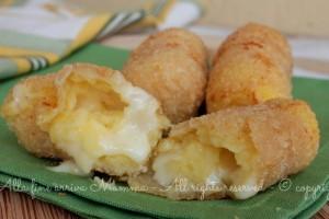 Crocchette senza uova croccanti e filanti