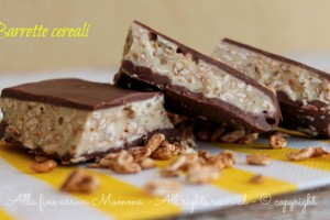 Barrette cereali e cioccolato