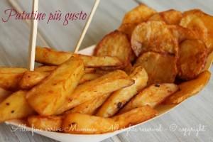 Patatine più gusto fatte in casa...al forno