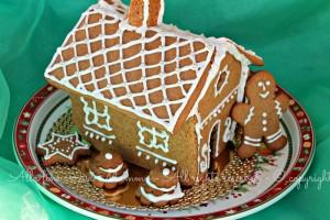 Casetta pan zenzero ricetta Natale bambini
