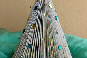 Albero Natale di carta fai da te ed ecologico