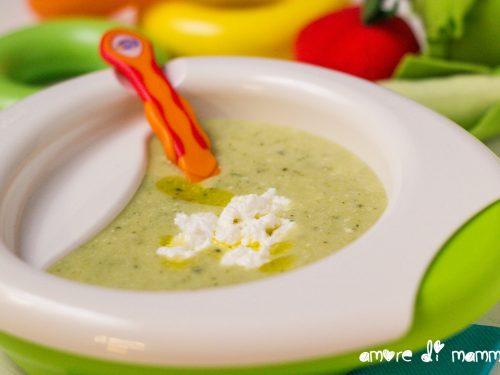 Crema di zucchine e ricotta – svezzamento