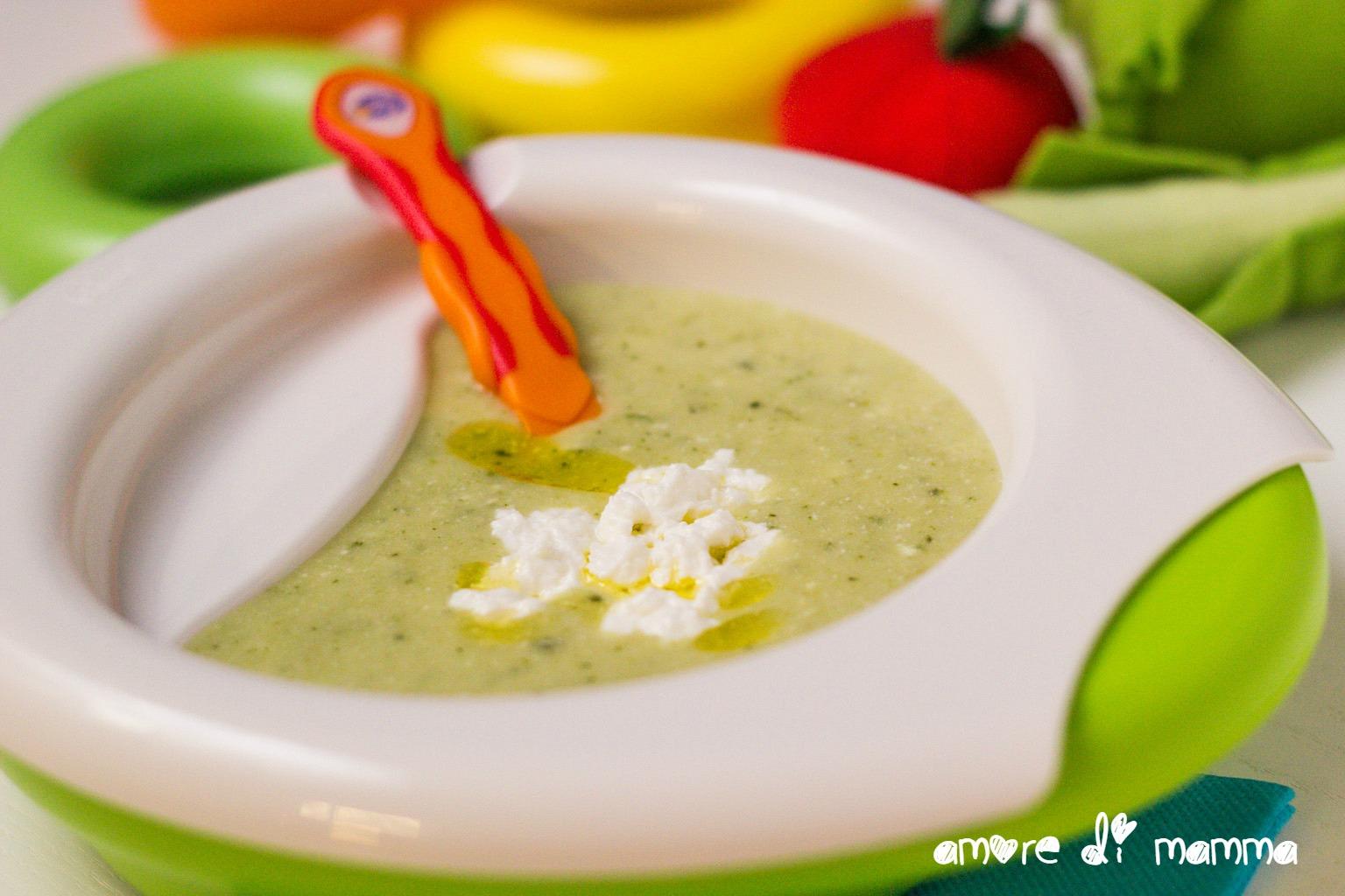 Pranzo Per Bambini Di 10 Mesi : Crema di zucchine e ricotta svezzamento amore di mamma