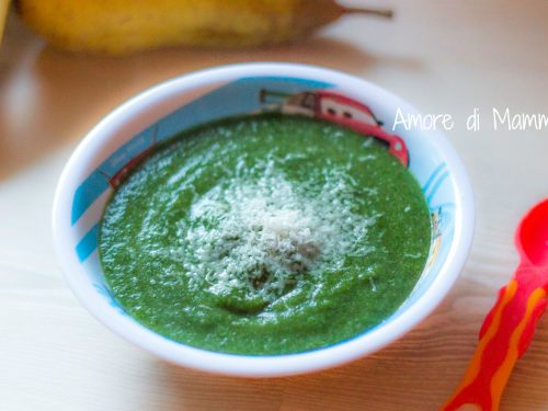 Crema di spinaci con le pere
