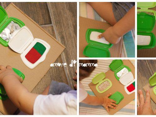 Tavola sensoriale fai da te Montessori