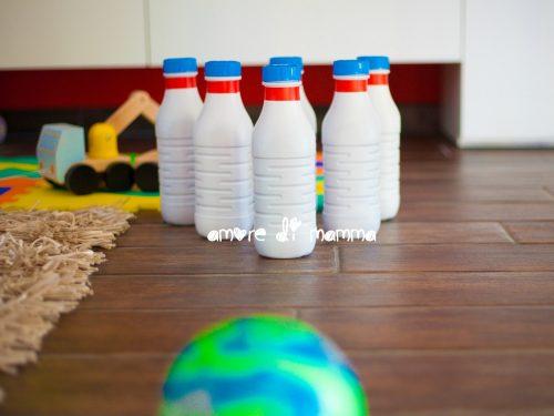 Bowling gioco in casa a costo zero – Lavoretto per bambini