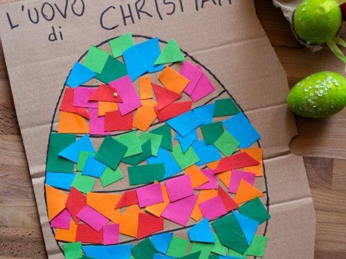 Lavoretto di Pasqua per bambini piccoli: un grande uovo da decorare!