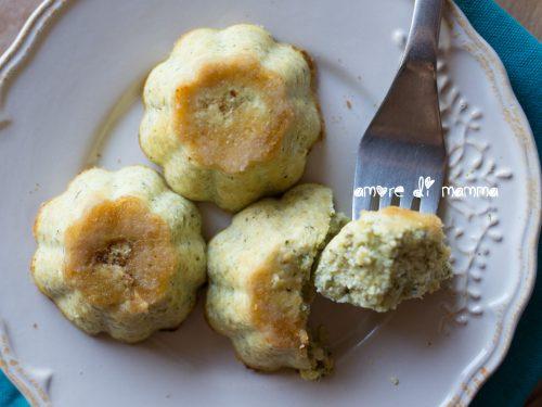 Tortini di zucchine e ricotta, ricetta per bambini