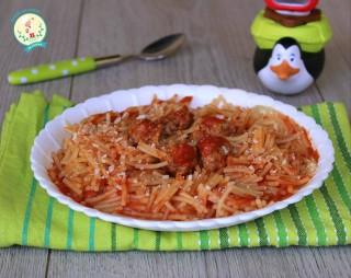spaghettini e polpette 1
