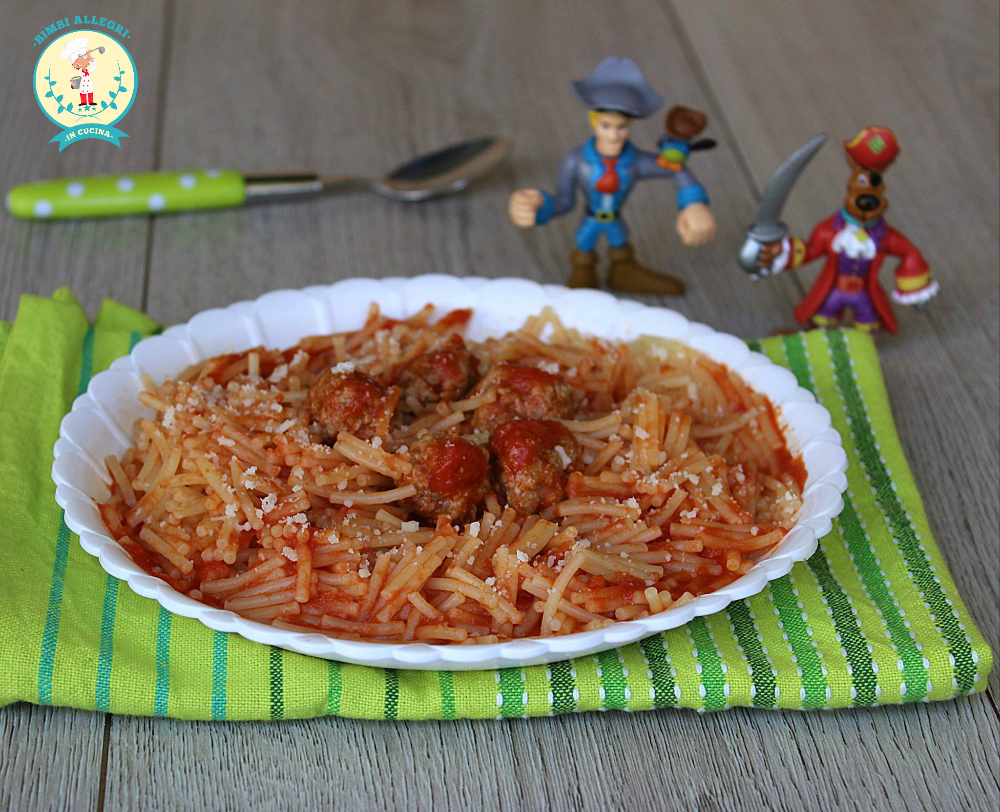 spaghettini e polpette 2