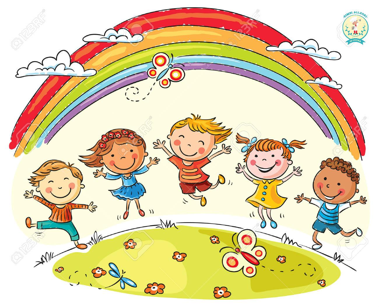 giochi all aperto bimbi allegri in cucina Rainbow Border Clip Art rainbow circle clip art printable