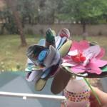 Festa della mamma: fiori riciclosi con cartoni delle uova