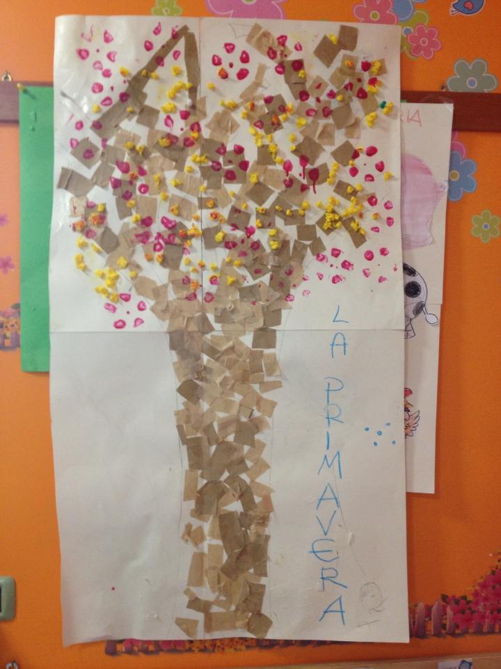 Lavoretto primavera per bambini albero fiorito ecomamma for Lavoretti di primavera
