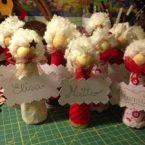 Segnaposto di Natale con riciclo creativo: teneri angioletti