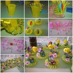 Lavoretto di Pasqua per bambini allegro e sostenibile