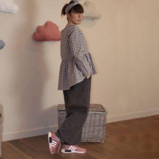 pantalone panno grigio gingiorginastyle