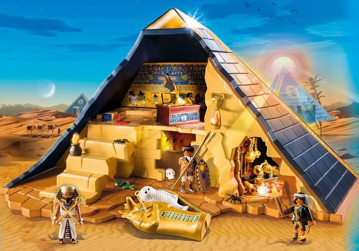 Impare giocando: egizi e romani di playmobil giocattoli