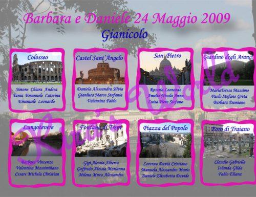 Tableaux di nozze a tema Roma