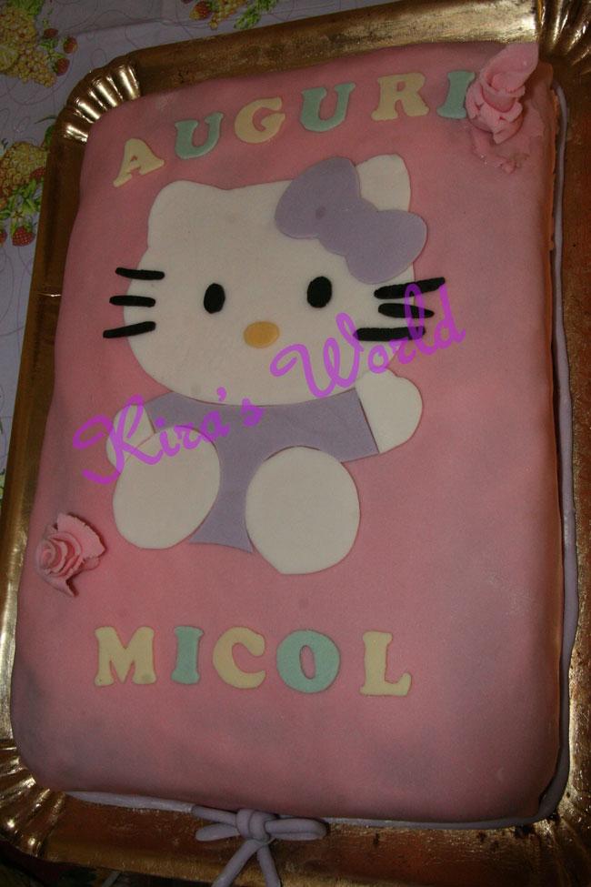 Torta Hello Kitty rettangolare in pasta di zucchero