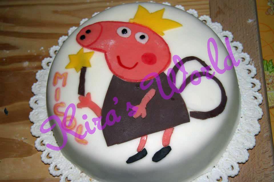 Torta di Peppa Pig fatina in 2D