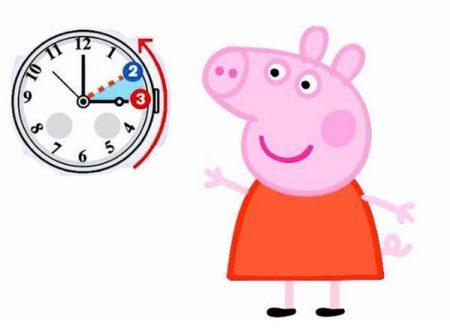 Peppa Pig e l'ora solare