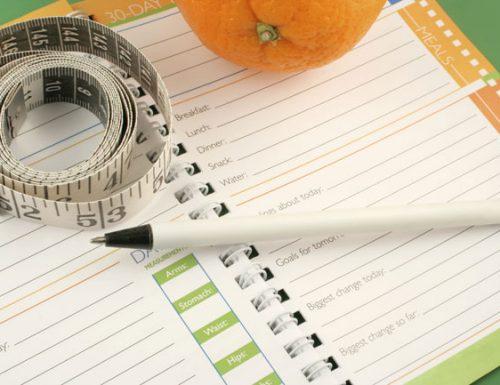 1° settimana di dieta: -2,3 Kg