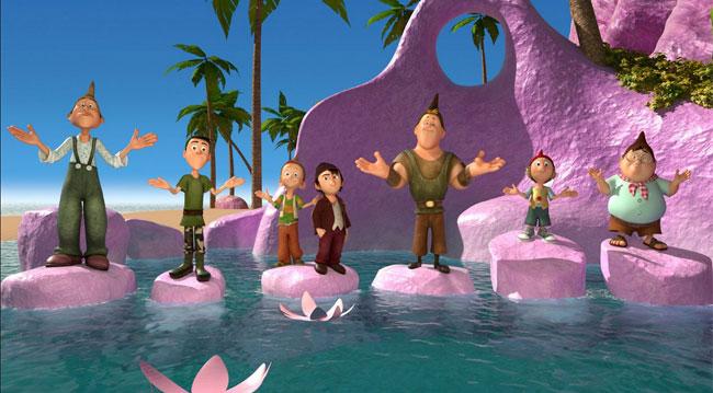 7 nani nell'acqua