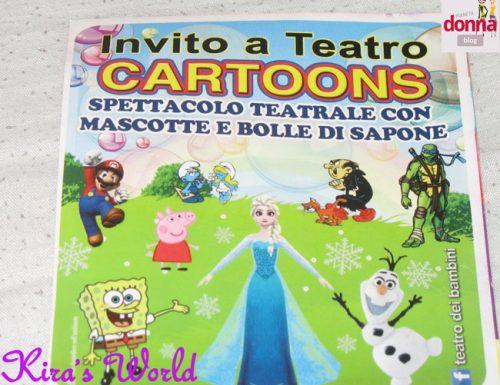Cartoons, spettacolo per bambini tra bolle e cartoni