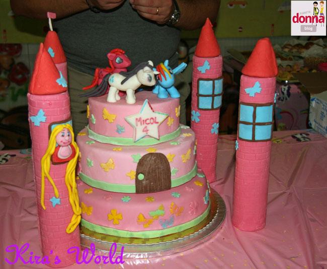 Torta con My Little Pony e Rapunzel