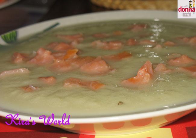 zuppa finocchi salmone