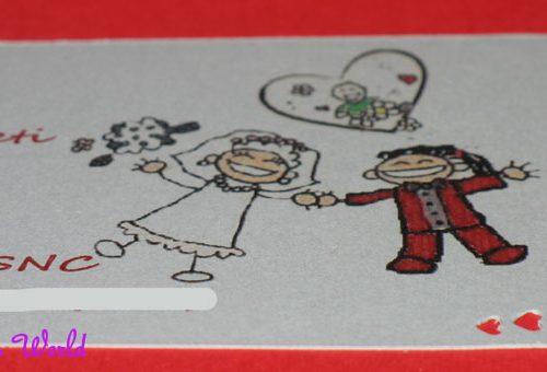 Partecipazione di nozze per chi ha un bambino