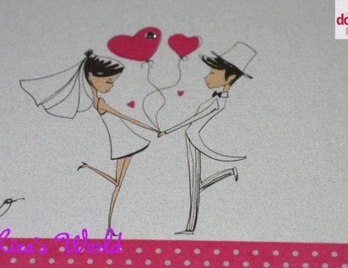 Idea per una partecipazione di nozze classica