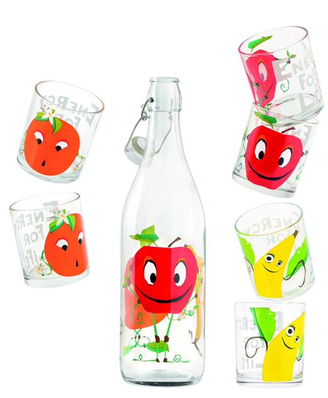 bottiglia e bicchieri