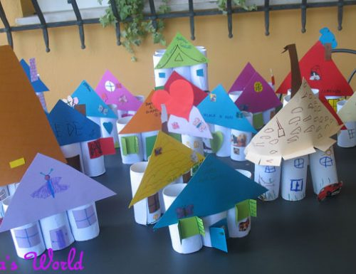 Come creare casette e farfalle con i rotoli di carta igienica