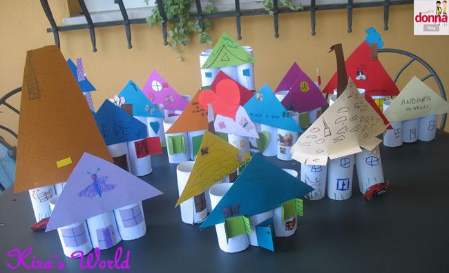 Rotoli Di Carta Colorata : Come creare casette e farfalle con i rotoli di carta igienica