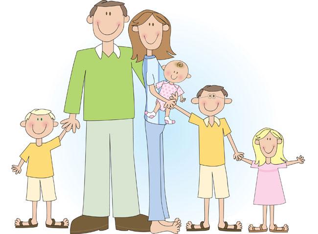 famiglia 4 figli