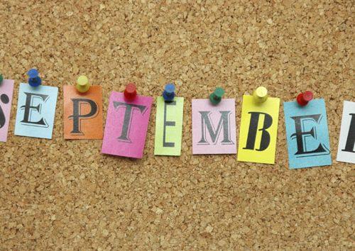 Settembre: si ricomincia