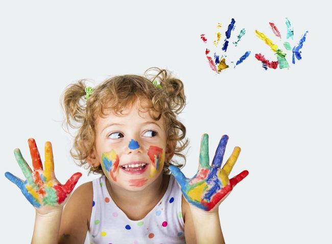 bambina colorata